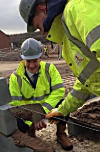 CEMENTING A RELATIONSHIP?: Chancellor George Osborne in Camp Hill. Picture: HM Treasury